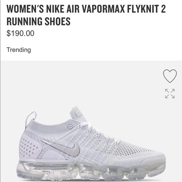 check out 037ba 92a00 Men's 8 NIKE VaporMax Flyknit triple white shoes